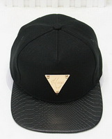Min.order is usd15(mix order) Fashion New Arrival Simple Style Gold Triangle Mark Flat Brim Snapback Cap