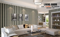 PVC wall sticker Contemporary and contracted stripe home decor baby room restaurant wallpaper 10 m * 53 cm luxury wholesale