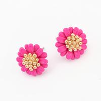 18K gold earrings fashion woman selling sweet little Zou chrysanthemum flower earrings 98644
