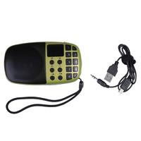 O3T# Portable Golden Digital Speaker TF Card USB FM Radio MP3 Player For The Aged Elder