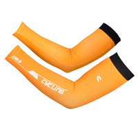 1 pair Free shipping bicycle sleeve warmers Lycra Cycling Jersey Part Yellow Color