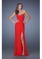 2014 Sweetheart Sexy Split Long Prom Dresses