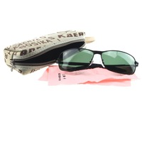 2014 fashion green lens polarized sunglasses with test cards and zipper case