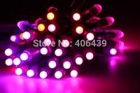 12mm WS2801 smart led pixel string rgb led module light,waterproof IP68;DC5V input;full color;50pcs a string,Round Shape