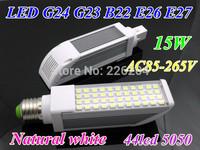 High Brightness 15W LED Corn Bulb Light E27 E26 G23 G24 B22 Lamp smd 5050 Horizon Down lamp 180 Degree For illuminate light