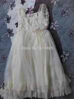 High-quality~Hot Sale Girl Lace Hook Flower Vest Wedding Dress Detail white pink beige