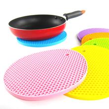 Amazing Durable Honeycomb Silicone Round Non-slip Heat Resistant Mat Coaster Cushion Placemat Pot Holder(China (Mainland))