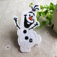 Frozen Snowman Embroidered cartoon patch iron on Sew-on Hot-Fix Applique motif garment embroidery patches DIY accessory Chrismas