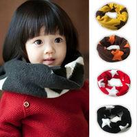 C Unisex Baby Winter Warm Wraps Star Pattern Muffler Girl's Boy's Wool Neckerchief Scarf Shawl Xmas Kid's Gifts More Colors 0-3T
