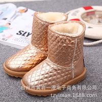 Winter Girls Snow Boots Warm  Children Boots Size 27-31  Warm Plush Kids Shoes Drop Shipping
