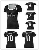 Soccer jersey Real women jersey 2015 ronaldo Bale James 14 15 Real women black dragon third of pink lady shirt Mujere