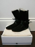 Hot Selling new arrival Isabel marant snow boots Women's genuine leather Suede ankle boots Real Wool Fur Winter Shoes
