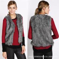 2014 New Fashion Women Faux Fur Vest Winter Sleeveless Luxury Fur Coat Plus Size Slim Fur Leather Warm Winter Grass Noble Vest