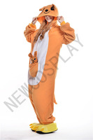 Free shipping!! Cute cartoon kangaroo animal pajamas home service men and women Halloween costumes leotard play