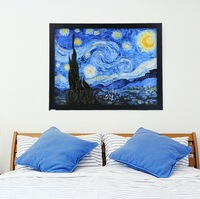 1 Pcs Painting Oil Painting home decoration Picture Unique Gift Home Decoration 43X33cm Starry Night wall stickers SV19 SV010791