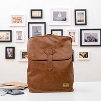 New 2014 Famous Men's Backpack Vintage Pu Leather Kids School Bag Men Travel Bag Large Mochilas Backpack Bag 28*10*40CM