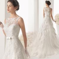 Wedding Dress 2014 Princess Lace Embroidery Perspective Sweet Train Wedding Dress Bride Plus Size Wedding Dress