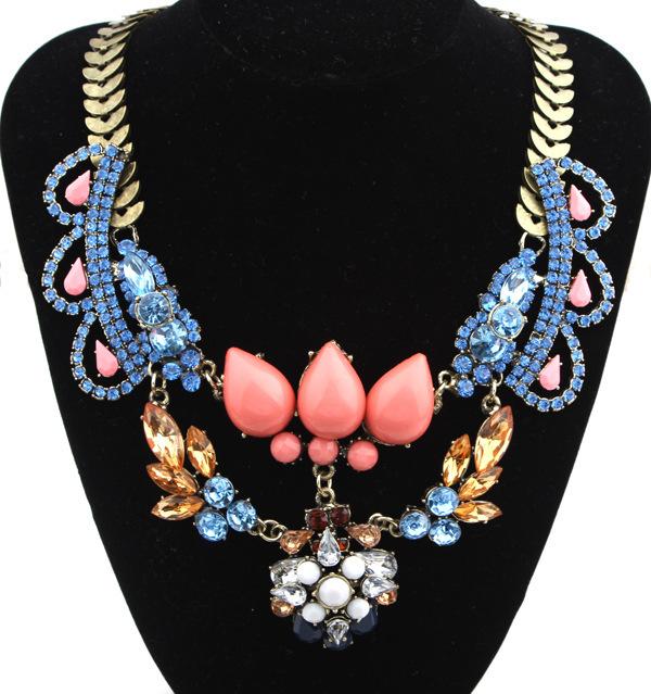 Christmas bijouterias maxi colares vintage colar joias,bijoux collier cristal,necklace women accesories(China (Mainland))