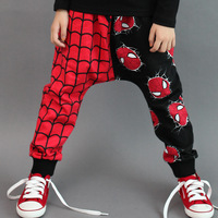 Free shipping! spring autumn children kids Spider-man style children's pants baby cotton pants 5pcs/lot