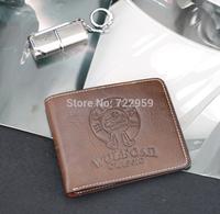 High quality Men's Fashion vintage genuine leather short wallet male wallets man purse