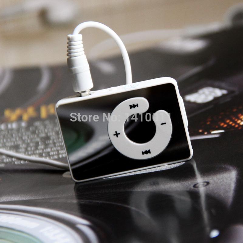 Chrismas Gift 10pcs/lot clip mp3 mirror screen card Mini clip sport mp3 player mirror panel Music Mp3 Player Free Shipping(China (Mainland))