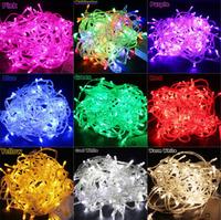 9 Colors LED String Light 65.6FT 20M 200led AC 110V / 220V US EU Plug Colorful Holiday Lighting Waterproof Outdoor Decoration