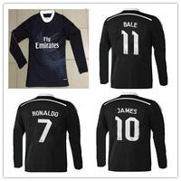 James 14/15 Chicharito soccer jersey Real Long Sleeve 2015 14 15 ronaldo real madrid long sleeve black white pink dragon