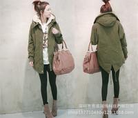 2014 Winter Korean New Women's Fashion Jacket Charm Hot Promotional Lamb Dovetail Long Sections Overcoat Warm Coat For Women