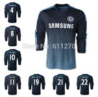 2015 Best Thai Quality chelsea Long Sleeve 14 15 Jersey 3rd black DROGBA DIEGO COSTA OSCAR HAZARD FABREGAS full futball Jersey