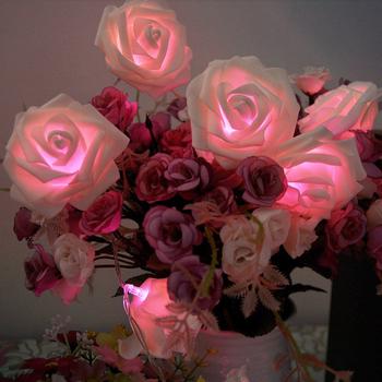 20 под розы фея строка фары свадьба сад ну вечеринку новогоднее украшение # L0192587