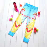 1038 Beautiful princess Digital Printing wholesale New 2014 School Child Legging Sports Pant Children Clothing  Baby Girl Pants