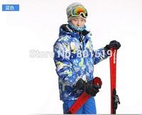 free shipping 2014 new color men ski jacket Waterproof breathable fashion printing ski jacket Thick warm Snowboarding jacket