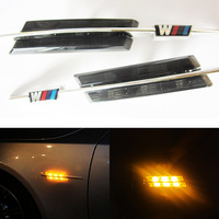 2x Smoke Fender Amber LED Fender Side Marker Light for BMW E81 E82 E87 E88 E90 E91 E60 E61