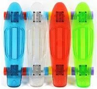 Brand New 22inch Penny style PC transparent board skateboard mini cruiser longboard skates