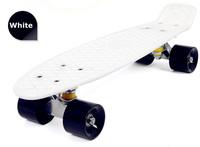 "Free shipping 22"" Mini Cruiser Penny Plastic Skateboard Wholesale old school Kid Gift Penny Skate board 1pc (white)"