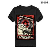 Fashion T Shirt Men Star Wars Revolution Camisa Masculina Shirts Round Neck Top Tees Short Sleeve Clothing