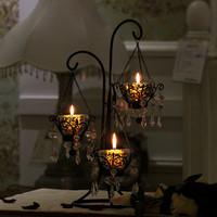 Fashion iron crystal pendant mousse wedding decoration vintage glass props birthday