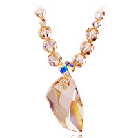 Short chains of  luxury style handmade classical design fashion crystal necklace for wedding for women