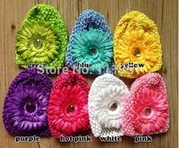 20pcs  Africa Daisy Flower Rhinestone Baby Kids Children crochet Knitted Caps Beanie Hat 7 Color for Choose