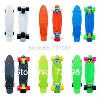 "DHL/FedEx/UPS 22"" plastic Penny Style Skateboard Complete mini Backpack Cruiser GIRL long skate fish board longboard"