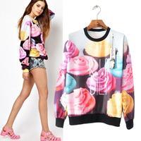 Fashion Women Sweatshirts Loose Long Sleeve Rose Print Pullovers Autumn Winter Novelty Streetwear 3D Brand Sport Tracksuit 8106