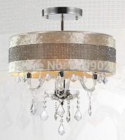 Modern, minimalist, European living room, bedroom, dining LED crystal ceiling lamp