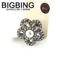 BigBing jewelry fashion  Retro crystal flower ring Good quality nickel free Free shipping! B522