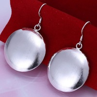 Free Shipping!!Wholesale 925 Silver Earring,925 Silver Fashion Jewelry, Sand Round Fashion Earrings SMTE079