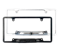 Car rear view camera licence Plate frame rearview Infrared LED Lights Night vision waterproof metal housing
