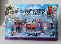 Best Price frozen doll set Frozen plush Princess Anna Elsa 6 figure set movie Cartoon Anime princess anna and elsa frozen dolls