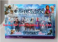 Best Price frozen doll set Frozen plush Princess Anna Elsa 6 figure set movie Cartoon Anime princess anna and elsa frozen dolls