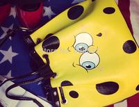 Cute Cartoon Big Eye Shoulder Bag High Quality Pu Yellow Color