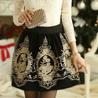 HOT Selling High Waist Skirts Korean Style Elegant OL Women Temperament Slim Lace Pencil Skirt Vintage Mini Skirt AY852070