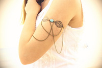 sexy arm bracelet alloy Fringes leaf charms bride jewelry